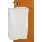 Household Essential 148 Doorknob Laundry Bag White Canvas-Patented