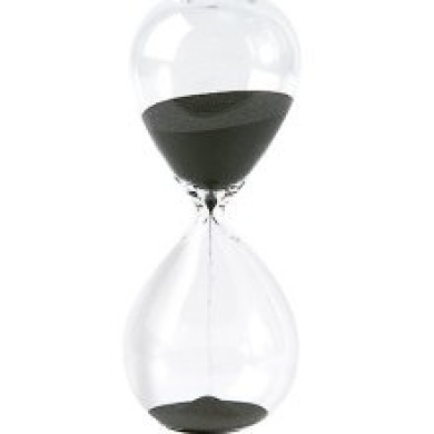Hourglass Sand Timer - 30 Minute Black Sand, 19.1cm