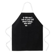 Attitude Aprons by L.A. Imprints Catnip Apron in Black 2298