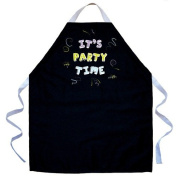 Attitude Aprons by L.A. Imprints It's Party Time Apron in Black 2513