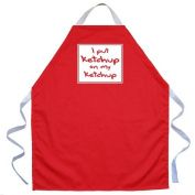 Attitude Aprons by L.A. Imprints Ketchup on My Ketchup Apron in Red