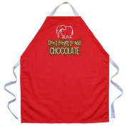 Attitude Aprons by L.A. Imprints Add Chocolate Apron in Red 2501