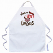 Attitude Aprons by L.A. Imprints Time to Eat Apron in Natural 2516