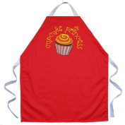 Attitude Aprons by L.A. Imprints Cupcake Princess Apron in Red 2504