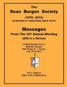 The Dean Burgon Society Message Book 2012