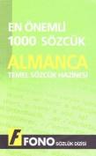 1000 Most Common Words German-Turkish/Turkish-German