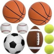 20pc Sports Balls Wall Stickers Decals