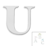 Kidsline White Hanging Wall Letter with Ribbons - U