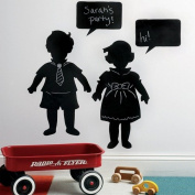 Wallies Wallcoverings 16032 Peel & Stick Chalkboard Mural Vintage Kids