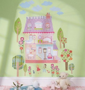 Wallies 13526 Peel and Stick Wall Play Mural House