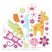 Lambs and Ivy Repositionable Children's Wall Stickers Lollipop Jungle