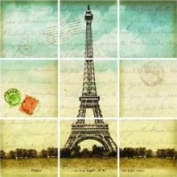 Lot 26 P1694 Studio Add-heres Eiffel Tower Wall Stickers 11 25
