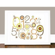 Billie 123 Wall Art in Orange / White Olli & Lime