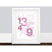 Logan 123 Wall Art in Pink / White Olli & Lime 460212