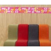WallCandy Arts Cbp01 Notnuetral Pink Number Border 1