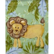 Stupell Industries The Kids Room Rectangle Wall Plaque - Lion in Jungle