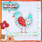 Stupell Industries The Kids Room Square Wall Plaque - Sing to Your Hearts Content Bird