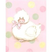 Stupell Industries The Kids Room Duck Rectangle Wall Plaque - Pink and Polka Dot