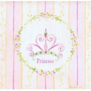 Stupell Industries The Kids RoomSquare Wall Plaque - Pink and Yellow Stripes - Princess