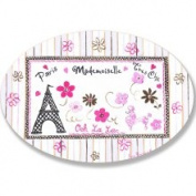 Stupell Industries The Kids Room French Words with Eiffel Tower Oval Wall Plaque
