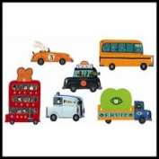 Djeco DD04512 Vehicles Reusable Wall Stickers