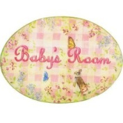Stupell Industries Girl's Baby Room Oval