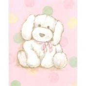 Stupell Industries Puppy with Pink and Polka Dot Rectangle