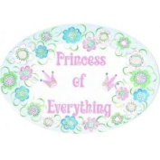Stupell Industries Princess of Everything Pink Crowns Oval