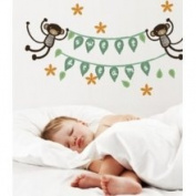 Wee Gallery Monkey Banner Wall Stickers