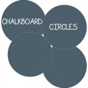WallCandy Arts cbcbbk Chalkboard Circles Kids Art