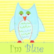Little Acorn S11W15 Blue Owl Canvas Nursery Wall Decor