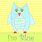 Little Acorn S11W15 Blue Owl Canvas Nursery Wall Decor