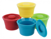Kinderville Little Bites Silicone Bowls, Cups and Storage Jars