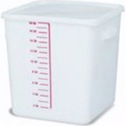 Rubbermaid Commercial Products FG9F0900WHT Food Storage Container, Space-Saver, Square, 20.8l, White