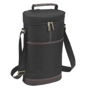 Picnic at Ascot Black Two Bottle Insulated Tote