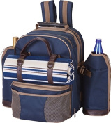Tremont 4 Person Picnic Backpack-Navy - Picnic Plus PS4-416N