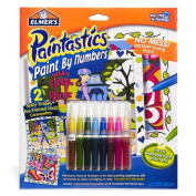 Elmers Paintastics Paint By Numbers Kit-Eat, Sleep, Shop