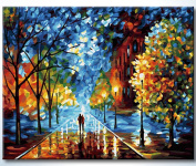 Diyoilpaintings Paintworks Paint By Number, the Glowing Night