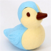 cute blue duck eraser from Japan by Iwako