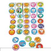 Dental Roll Sticker Assortment ~ 5 Rolls ~ 100 Stickers Per Roll / 500 Total ~ New ~ Dentist Stickers, Tooth Fairy