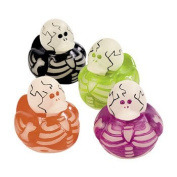 Vinyl Glow-In-The-Dark Skeleton Rubber Duckies - 6 pc