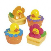 12 ct - Spring Flower Rubber Duck Ducky Duckies