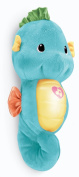 Fisher-Price Soothe and Glow Seahorse Baby Soother - Blue.