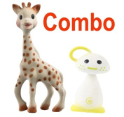 Vulli Sophie the Giraffe Teether Plus Vulli Chan Pie Gnon Soft Natural Rubber Teether - Comes In Gift Boxes