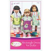 Vanilla House Patterns-Rectangle Dress For 46cm Dolls