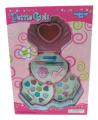 Petite Girls Clam Shell Shaped Cosmetics Play Set - Fashion Makeup Kit for Kids