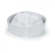 12 white sailor hats - one dz hats fits kids and average adults
