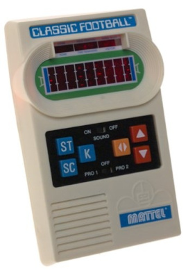 Classic Football Handheld Game from Mattel