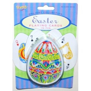 Easter Egg Playing Cards in Tin Case