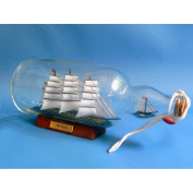 HMS Victory Ship in a Bottle 11 Glass Ship in a Bottle - Already Built Not a Kit - Wooden Model Ship in a Glass Bottle - Nautical Home Beach Wall Décor or Gift - Sold Fully Assembled
